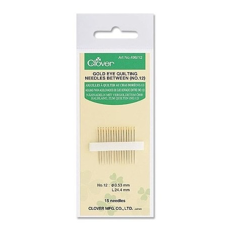 Clover Clover Gold Eye Quilting Needles #12
