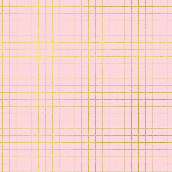 Ruby Star Society Grid by Kimberly Kight for Ruby Star Society Pink Gold Metallic