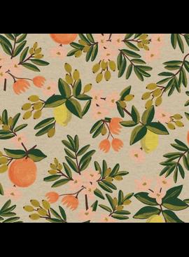 Cotton + Steel Primavera by Rifle Paper Co. Citrus Floral Sand Canvas