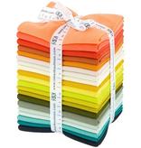 Robert Kaufman Elizabeth Hartman Adventure Coordinates: Kona Designer Palette Fat Quarter Bundle 20 Piece