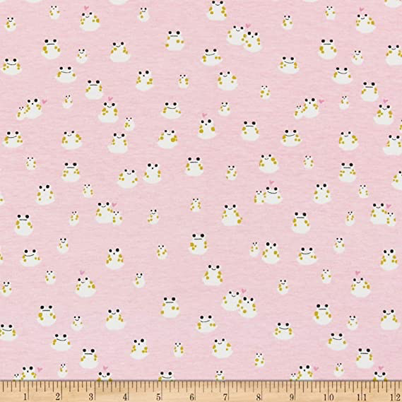 Cotton + Steel Front Yard by Cotton + Steel Frogs Pink Knit