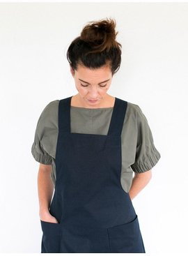 The Assembly Line Patterns Apron Dress pattern by The Assembly Line Patterns