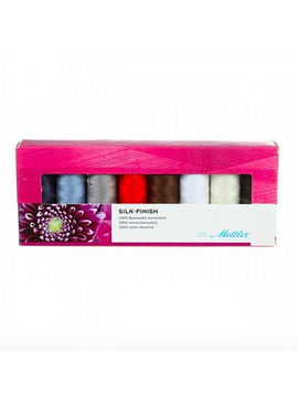 Brewer Mettler Silk-Finish Cotton Thread Set (8 spool)