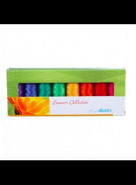 Brewer Mettler Silk-Finish Cotton Thread Set Summer (8 spool)