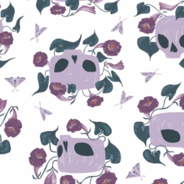 Dear Stella Ghostwood by Rae Richie for Dear Stella Skulls White