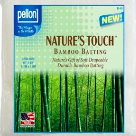 "Pellon Pellon Nature's Touch 50% Bamboo / 50% Cotton Batting Crib 45"" x 60"""