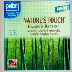 "Pellon Pellon Nature's Touch 50% Bamboo / 50% Cotton Batting Twin  81"" x 96"""
