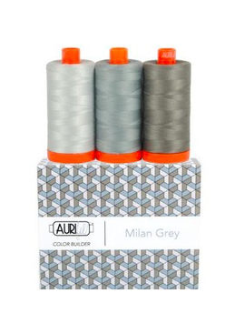Aurifil Aurifil Color Builder Milan Grey 50wt 3pk