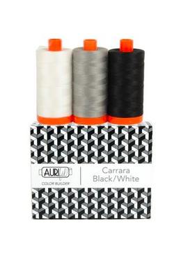 Aurifil Aurifil Color Builder Carrara Black White 50wt 3pk