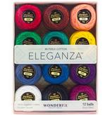 WonderFil Eleganza Pack Kaleidoscope Colorway Perle Cotton Size 8 12pk
