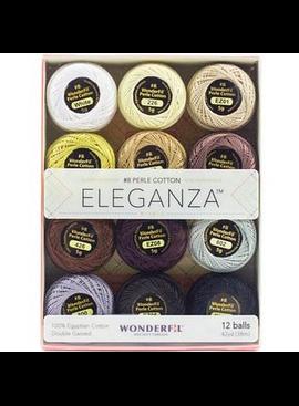 WonderFil Eleganza Pack Neutral Colorway Perle Cotton Size 8 12pk