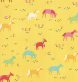 Moda Best Friends Forever Horses Yellow