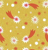 FIGO Wintertide by the Printed Peanut Shooting Star Yellow