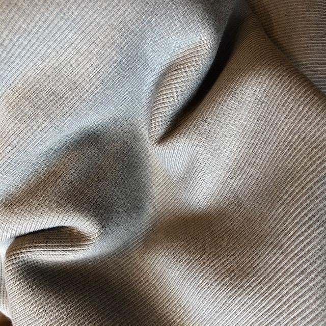 Birch Fabrics Organic Cotton Ribbing Knit Gray