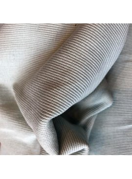 Birch Fabrics Organic Cotton Ribbing Knit Mineral