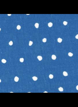 Kokka Nani Iro Double Gauze: Pocho Dots White Dots on Blue