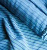 S. Rimmon & Co. Turquoise Italian Cotton with Navy Stripe