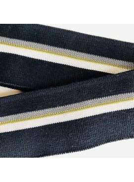 Merchant & Mills Merchant & Mills Ribbing: Colours: Navy Blue / White / Olive Green / Grey