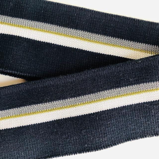Merchant & Mills Merchant & Mills Ribbing: Colours: Navy Blue / White / Olive Green / Grey