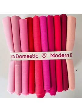 Robert Kaufman Kona Fat Quarter Bundle: Reds / Pinks 10pc
