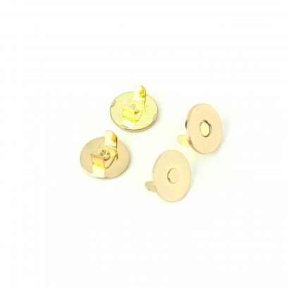 "Sallie Tomato 3/4"" Magnetic Snap 1 set Gold Finish"