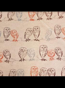 Kokka Kokka Owls on Natural Linen