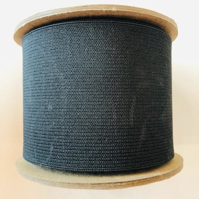 "Conrad Jarvis Black Knit Elastic 3"" (per yard)"