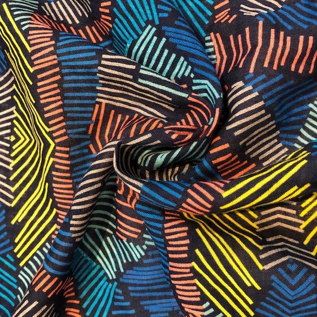 S. Rimmon & Co. Rayon / Cotton Blend Multi-color Tribal Print