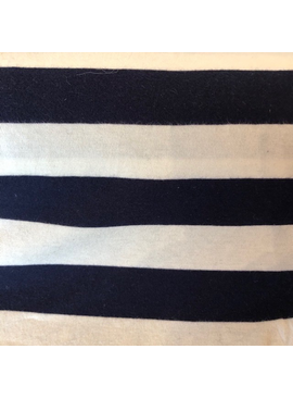 S. Rimmon & Co. Rayon Nautical Stripe Navy / Cream Knit