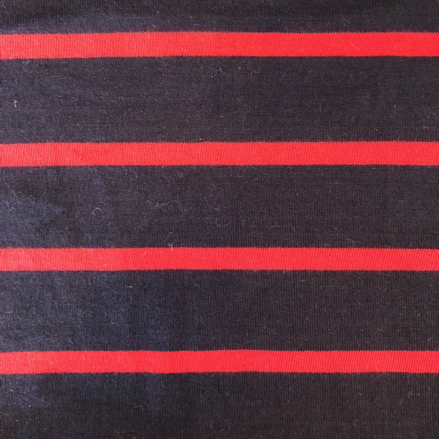 S. Rimmon & Co. Cotton Jersey Navy with Red Stripe
