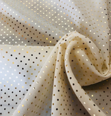 Ivory / Gold Stretch Silk