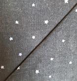 Kokka Kokka Tiny Corduroy Stars Black
