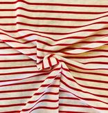 Pickering International Bamboo Viscose / Organic Cotton Jersey Poppy Stripes