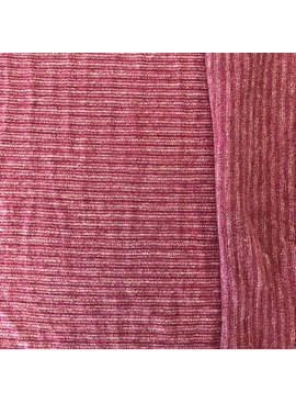 Pickering International Hemp / Organic Cotton Yarn Dyed Striped Jersey Sienna Plum Rose 4.8oz