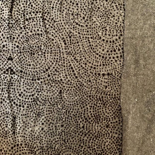 Pickering International Hemp / Organic Cotton Black on Grey Modern Paisley Knit