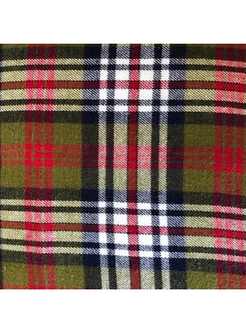 Textile Creations Windstar Plaid Flannel Olive Wine Navy Cream