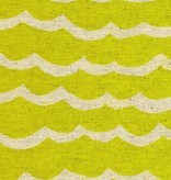 Cotton + Steel Kujira & Star by Rashida Coleman-Hale: Waves Canvas Citron