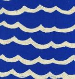 Cotton + Steel Kujira & Star by Rashida Coleman-Hale: Waves Canvas Blue Sea