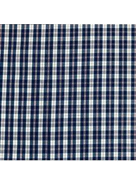 Blue / Red Small Plaid Pima Cotton Shirting
