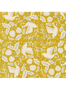 Robert Kaufman Sevenberry Cotton Flax Prints Chartreuse