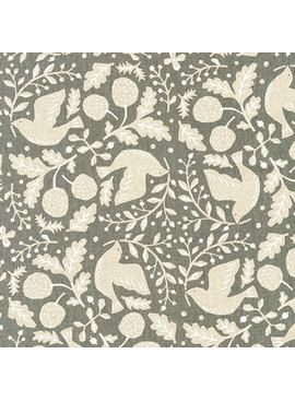 Robert Kaufman Sevenberry Cotton Flax Prints Grey