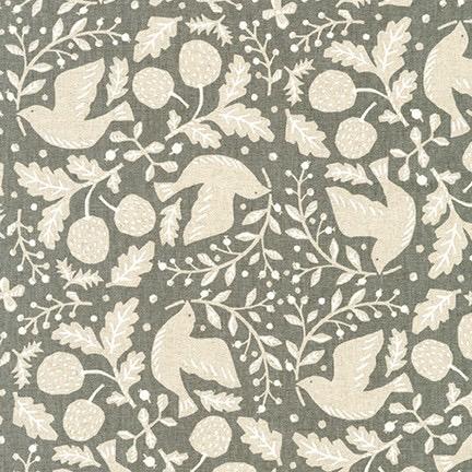 Robert Kaufman Sevenberry Cotton Flax Prints Grey