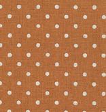 Robert Kaufman Sevenberry Canvas Natural Dots Copper