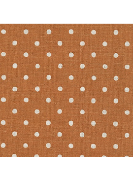 Robert Kaufman Sevenberry Canvas Natural Dots Copper