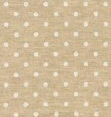 Robert Kaufman Sevenberry Canvas Natural Dots White