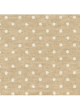 Robert Kaufman Sevenberry Canvas Natural Dots White