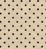 Robert Kaufman Sevenberry Canvas Natural Dots Jet Black