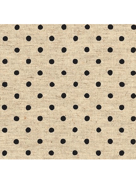Robert Kaufman Sevenberry Canvas Natural Dots Jet Black