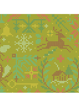 Andover Holiday by Alison Glass Kitschy Crossed Olive