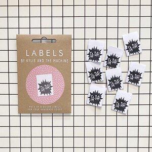 "Kylie and the Machine Kylie and the Machine Labels Sewing Tags ""Ta-Da"""